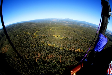 Balloon Shadow over the Jemez