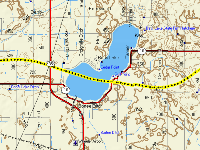 Crossing Bass Lake: GPS Track