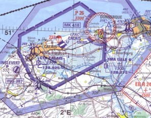 French Aviation Map: Channel